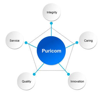 infografika dotycząca produktów Puricom