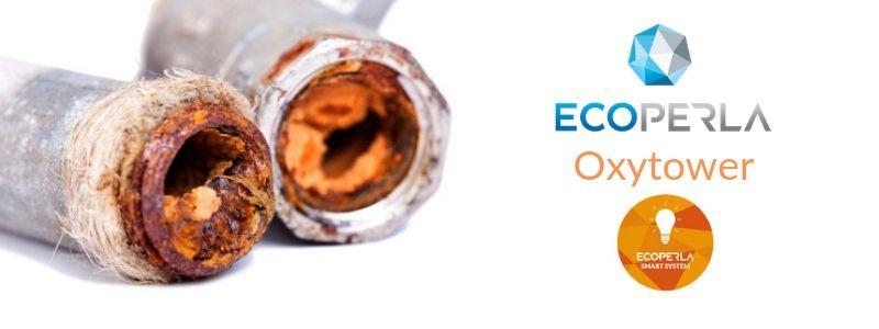 Odżelaziacz i odmanganiacz Ecoperla Oxytower z komorą sprężonego powietrza